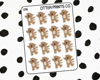 Happy || Otis the Otter Character Stickers
