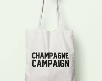 Champagne Campaign Tote Bag Long Handles TB0779
