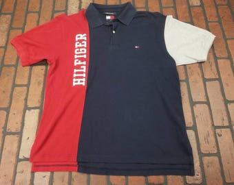 bahrain flag red and blue striped polo shirt