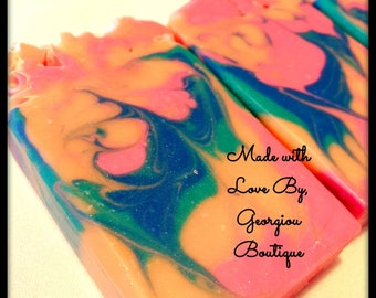 Soap Bar/Handmade/Luxurious Bar Soap/Valentines Day gift/birthday gift/mothers day/party favors/artisan soap