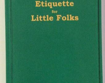 1856 Etiquette for Little Folks