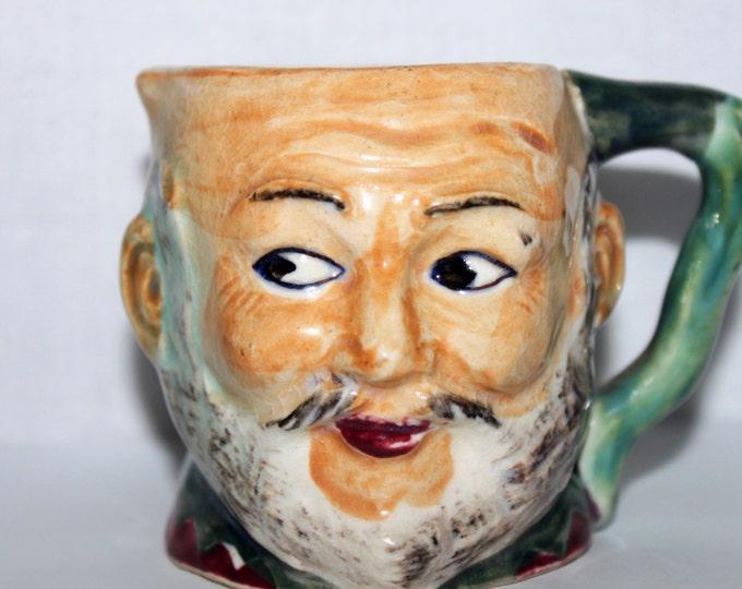 Vintage Mini Toby Mug, Man Looking Sideways with Mustache and Beard
