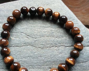 1311 - men's Tiger eye beads and Tibetan bead bracelet
