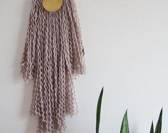 Halbmond, Halbmond, Textile Messing Wandhängen
