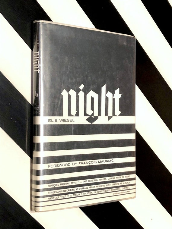 Night by Elie Wiesel (1960) hardcover book