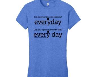 English Major Shirt Men's Shirt Women's T-Shirt English Teacher Gift for Teachers Cool Funny Shirt Man Grammar Shirt College Student Gift