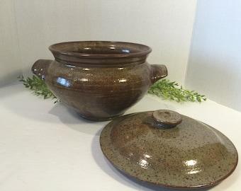 Vintage Heavy Ironstone Earthenware Hand Wheel Thrown Pottery