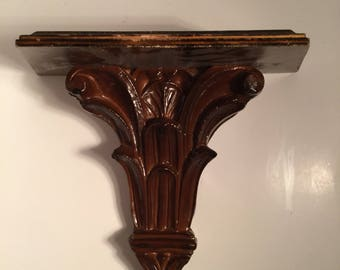 Decorative Wood sconce/Large Sconce Shelf/Wood Decor/