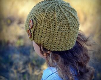 CROCHET PATTERN - Parisian Dreams - crochet hat pattern, crochet beanie pattern (Toddler Child Adult sizes) - Instant PDF Download