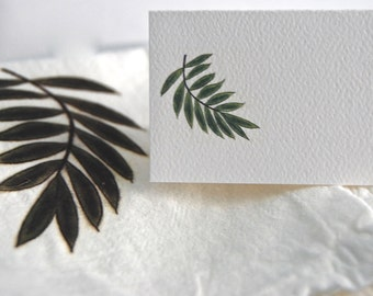 Palm Branch, Tented Name Cards,Personalized Cards, Seating Cards, Wedding Decor, Blank Name Cards,  Tropical Theme Party, Garden Theme Party