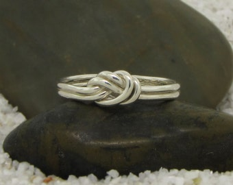 Sterling Silver Nautical Knot Ring - Celtic Knot Ring - Promise Ring for Her - Delicate Ring - Minimalist Ring - Dainty Ring - Infinity Ring