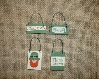 Mini ornaments - St. Patricks day - Good Luck