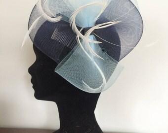 Ceremony in blue tones hair comb