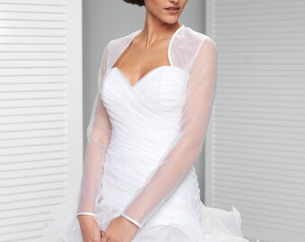Long Sleeve Simple ORGANZA Bridal Jacket