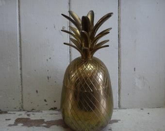 Vintage Brass Pineapple - Vintage Pineapple - Pineapple Icebucket - Vintage Bar Decor - Vintage Bar Cart Decor Vintage Pineapple Ice Bucket