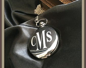 Personalized engraved Pocket watch - Laser etched pocket watch - gift for man - Gift for him - Engraved watch in gift box - Groomsmen gift