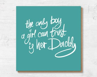 Father's Day Card - Card for Dad - Dad Card - Fathers Day Card from Daughter