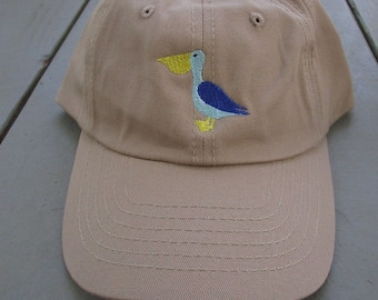 Childs Embroidered Pelican Hat with Optional Personalization