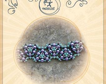 beading pattern Bracelet tutorial / pattern Sanyi bracelet...PDF instruction for personal use only