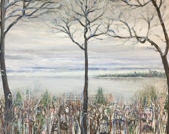 Winter Fog on Little Traverse Bay