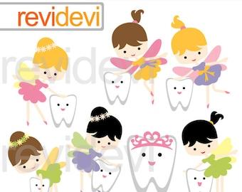 Tooth Fairy Clipart sale, commercial use clip art, digital graphic, digital images - cute teeth, dental clip art