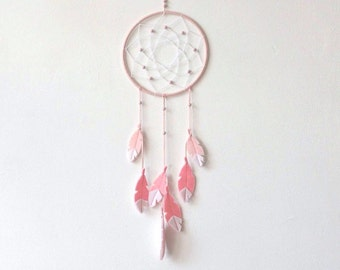 Dream Catcher Wall Hanging, Pink DreamCatcher, nursery decor girl, nursery dreamcatcher, baby girl nursery, wall hanging, small dreamcatcher