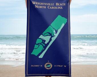 "Wrightsville Beach NC 60""x30"" beach towel • Wrightsville Beach North Carolina • The Luminous Island • New Hanover County • Wilmington"
