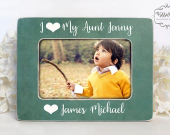 Gift for Aunt Aunt Gift New Aunt Gift Aunt Picture Frame I Love My Aunt Picture Frame 4x6 Opening