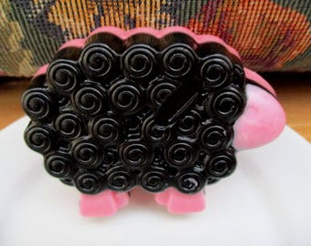 The Black Woolly Sheep with Shea Butter. Fragrance of Peppermint Candy. Fun soap.