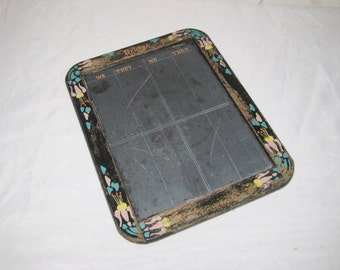 Slate chalkboard, bridge score board, decorative, vintage chalk board, 1106