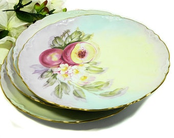 Choice of Hand Painted Fruit Motif Cabinet Plates