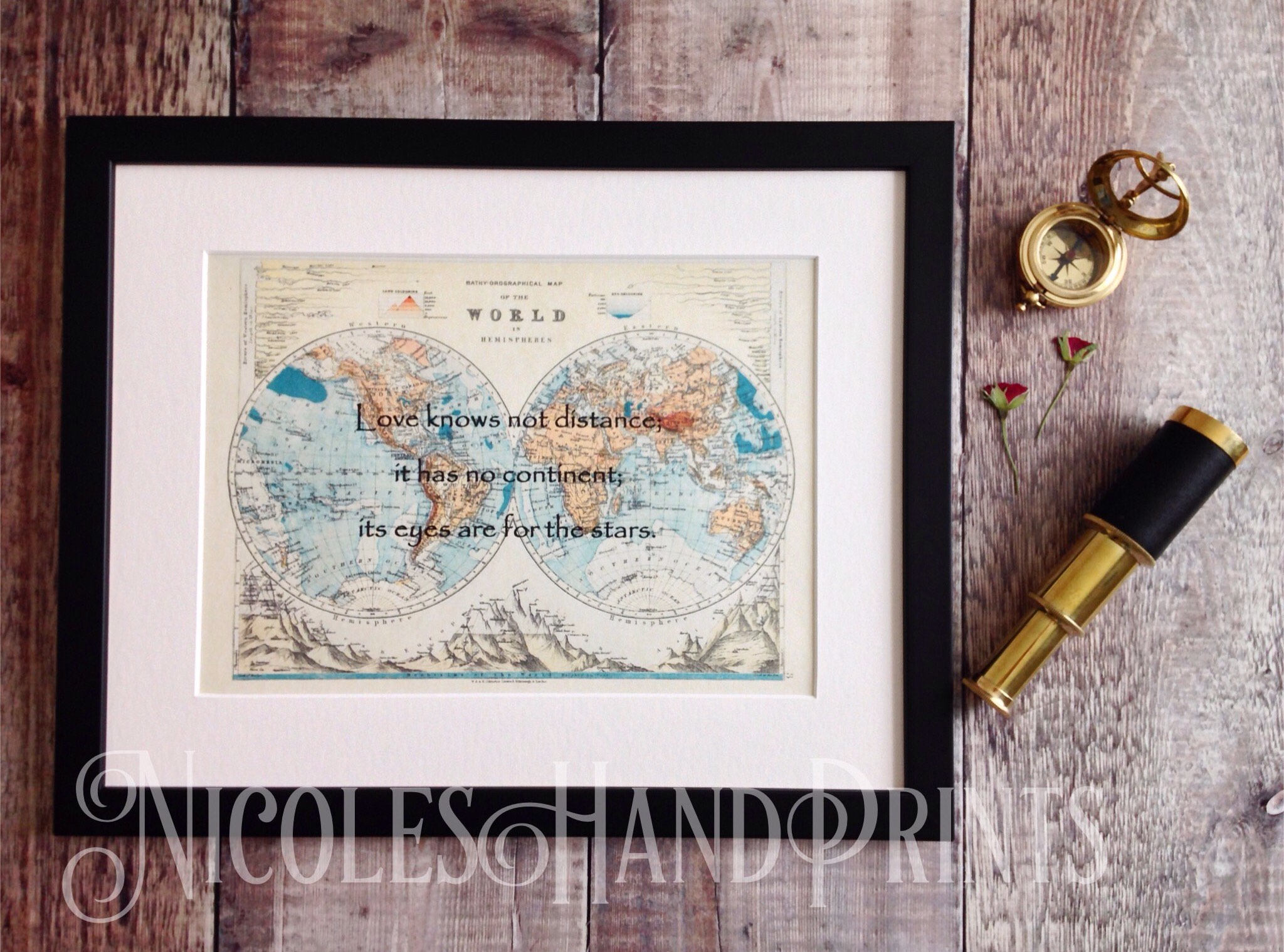Vintage old world map print love quote gifts map gifts romantic vintage old world map print love quote gifts map gifts romantic gift for him custom map print paper anniversary gift romantic wall art gumiabroncs Gallery