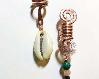 Loc bijoux minéraux et coquillages avec du cuivre