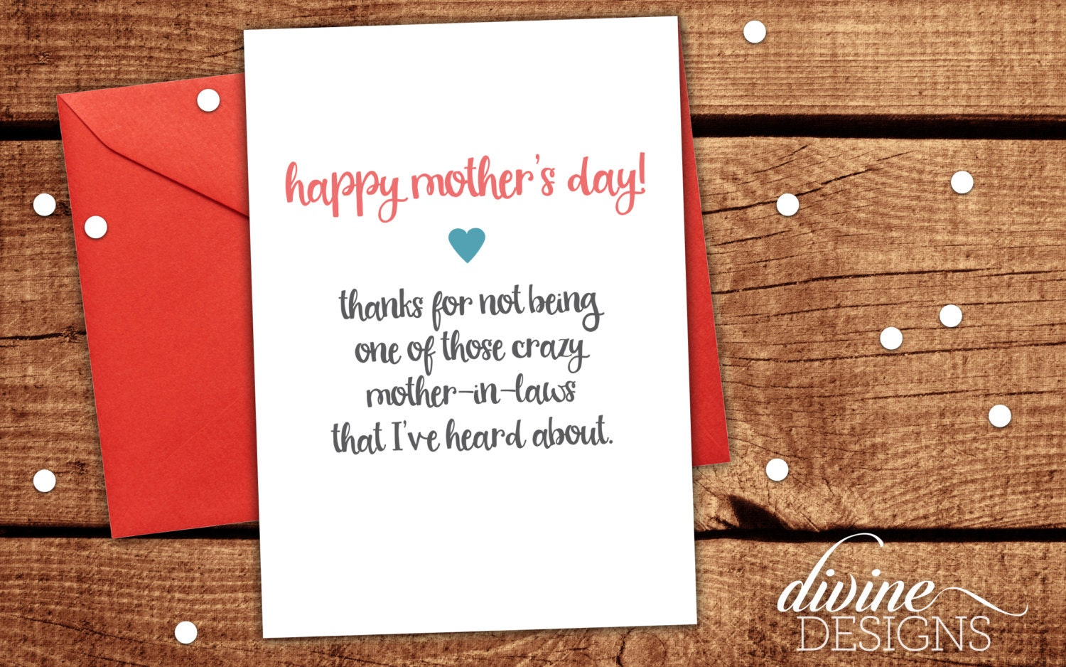 Mother in law card funny mothers day card mothers day zoom kristyandbryce Image collections