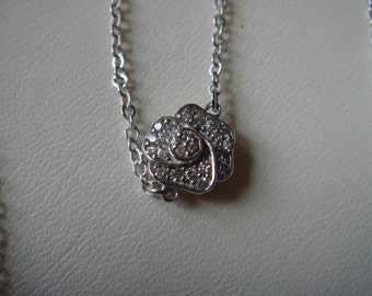 Crislu station necklace, rose and thorn DBTY