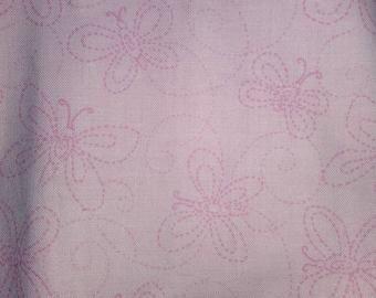 Pink butterfly fabric .25 yard fabric quarter fat quarter