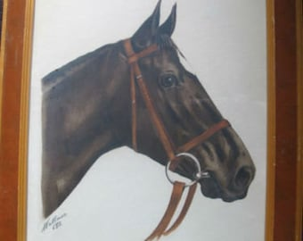 Signed Limited Ed KINGS of the TURF Racehorse Kayak II Wallace Horse Print 682