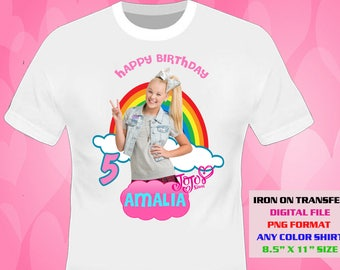 Jojo Siwa Iron On Transfer DIY Girl Birthday Shirt Printable Digital Files