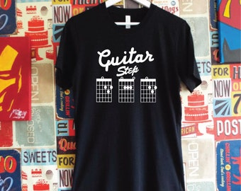 Guitar Step Dad T-Shirt. Guitar Dad Shirt. Guitar Chord Dad Shirt. Guitar Rocker. Father's Day Gift. Step Dad Gift. Step Dad Guitar Chords.