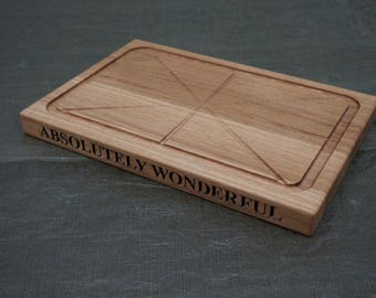 The Fine Wooden Article Personalised Engraved Sunday Roast Carving Board