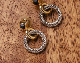 Vintage Gold and Silver Earrings