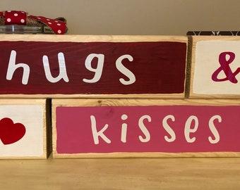 Hugs & Kisses mini blocks