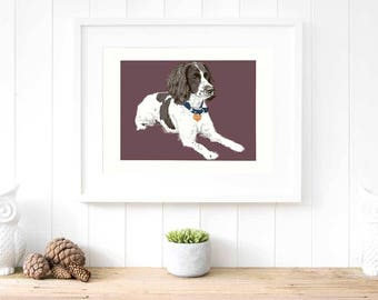 Custom pet portrait Personalised gift for him Dog memorial pet loss gifts Dog portrait rainbow Bridge gifts One of a kind dog lover gift