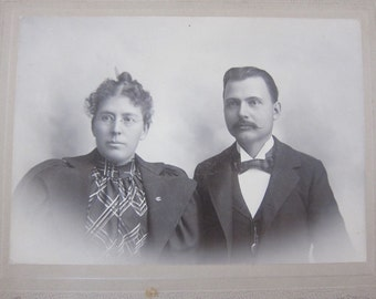 Valentines Day Love Antique Photograph Vintage Photograph Cabinet Card Victorian Photo Black and White Photo C154