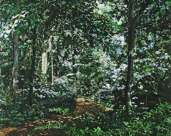 "BOTANICAL GARDENS-6"" x 6"" ltd. ed Giclee print of original painting"