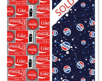 Coka Cola Brand Cotton Fabric Coke