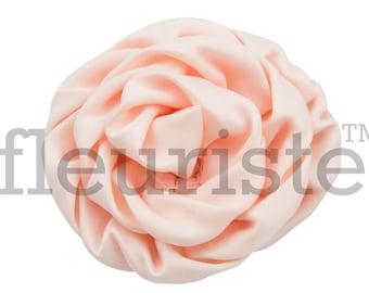 Cream Satin Rosette, Satin Rolled Rosette, Fabric rose, Rolled Rosette, Wholesale Flower, Fabric Flower, Wedding Flower Flower Embellishment