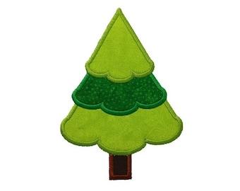 Christmas Tree Applique Machine Embroidery Design - 4 Sizes