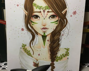 Art print - the spirit of the forest - promarker - A5