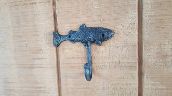Fish Wall Hook Cast Iron Fish Hook Man Cave Hook Angler